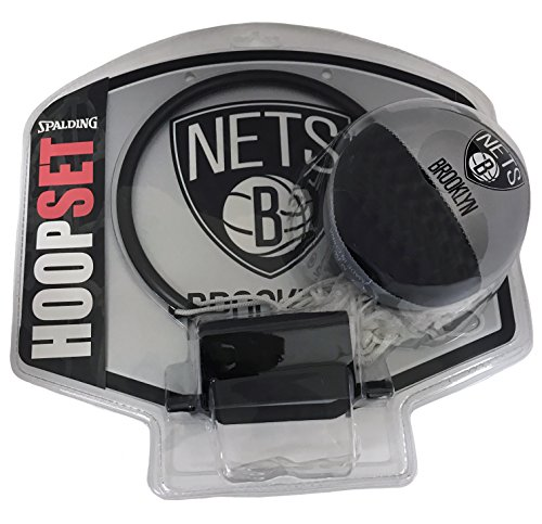 fan products of Spalding Over the Door Mini Basketball Hoop - Brooklyn Nets