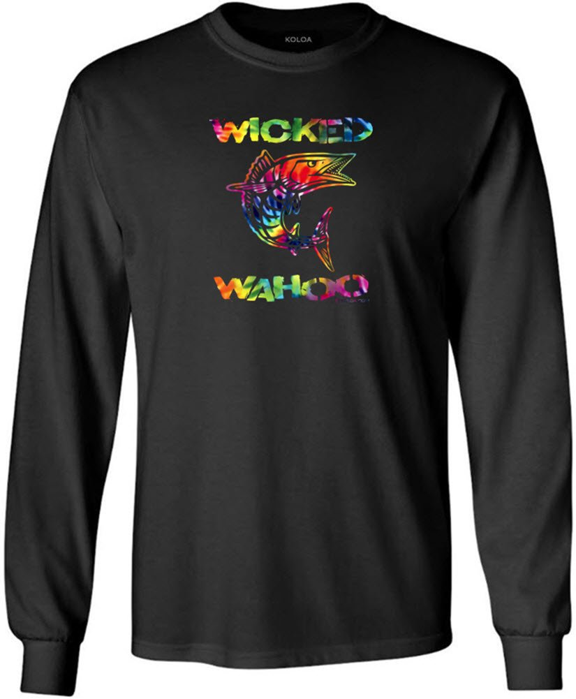 Joe's USA SHIRT メンズ B073Z2XG4R Tall 3X-Large 3XLT (50-53)|Black With Multicolor Wicked Wahoo Black With Multicolor Wicked Wahoo Tall 3X-Large 3XLT (50-53)