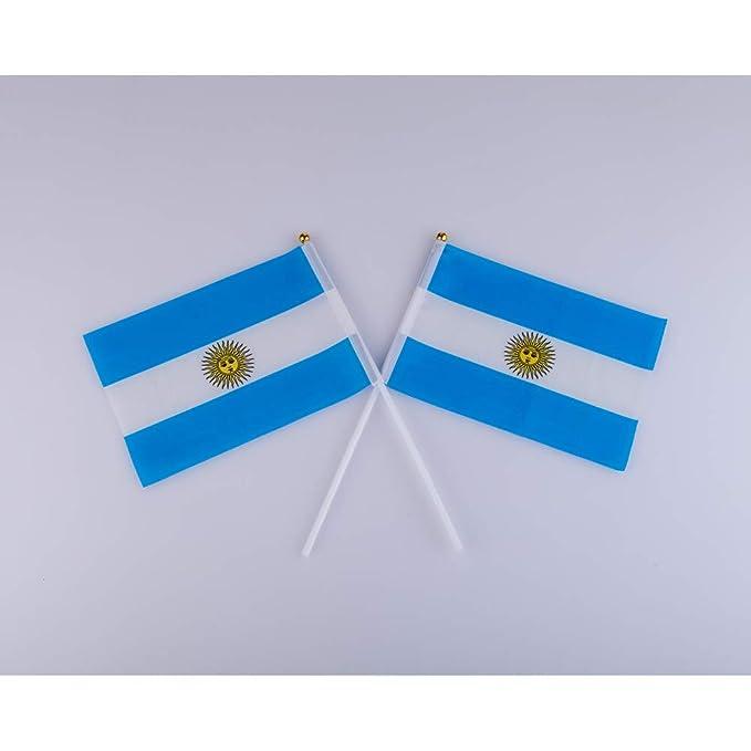 CDKJ Palo de la Bandera Argentina 5.5 x 8.3 Pulgadas pequeña ...