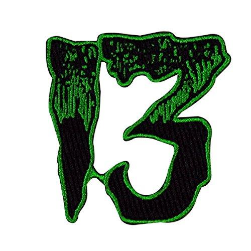 green applique numbers - 6