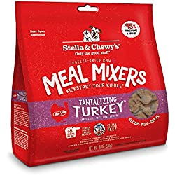 Stella & Chewy's Freeze-Dried Raw Tantalizing Turkey Meal Mixers Grain-Free Dog Food Topper, 18 oz. bag