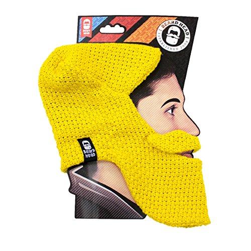Beard Head - The Original Balaclava Knit Beard Hat (Yellow)