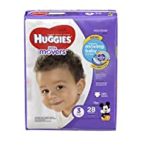 HUGGIES Little Movers Diapers, Size 3, 28 Count