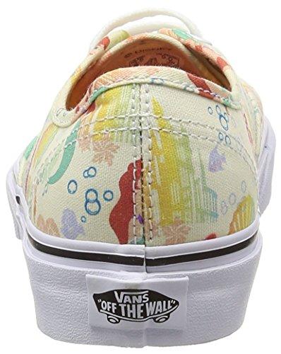 Vans Authentic, Zapatillas de Estar por Casa para Hombre Blanco (Disney - Ariel/White)