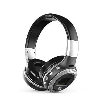 Moliies Pantalla LCD estéreo inalámbrica para Auriculares Auriculares Bluetooth B19 con Radio FM de micrófono