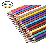 Agooding Watercolor Pencil Art Coloring Water Soluble Pencil/ Non-toxic Colored Pencil Set with a Brush and a Sharpener for Kids and Adults Coloring and Painting (36 colors)