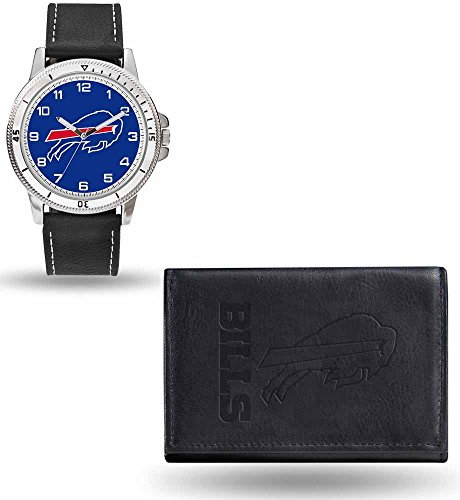 Nfl Football Watches Buffalo Bills (Rico NFL Men's Watch and Wallet Set WTWAWA3501, Buffalo Bills)