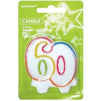 amscan Glitter Geburtstags Kerze als Nummer 1