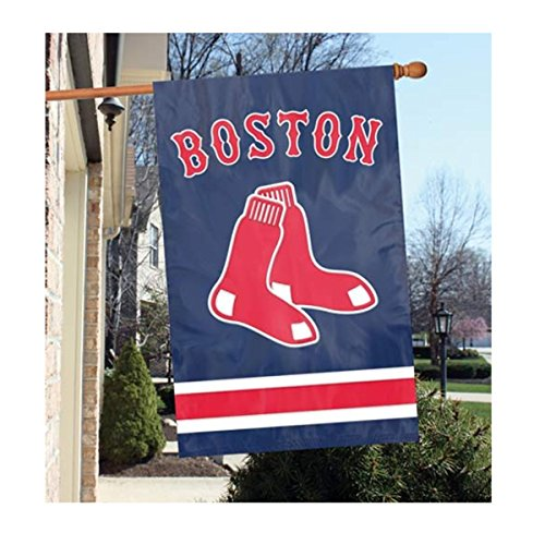 Party Animal Official Major League Baseball Fan Shop Authentic MLB Team Sports Man Cave Flag - Banner (Boston Red Sox)