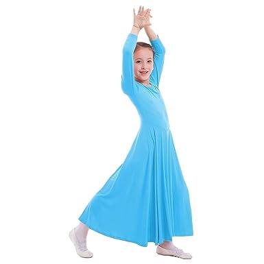 Vestidos Mujer Casual Litúrgico Manga Larga Leotardo Gimnasia Vestido de Ballet Flamenco Maillot Danza Flamenco Clásica Combinación para Niñas Chica ...