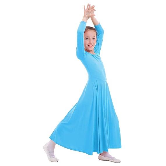 3576df02b Vestidos Mujer Casual Litúrgico Manga Larga Leotardo Gimnasia Vestido de Ballet  Flamenco Maillot Danza Flamenco Clásica Combinación para Niñas Chica  Disfraz ...