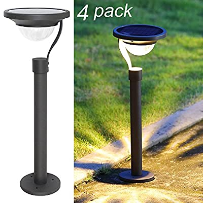 Twinkle Star Solar Path Lights Solar Garden Lights Solar Landscape Lights Outdoor for Lawn Patio Yard Driveway,50 Lumens,42X Brighter,Matte Black