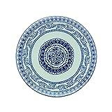 Fitz & Floyd IG31031 Blue Antico Round Platter Serving, 11, White/Blue