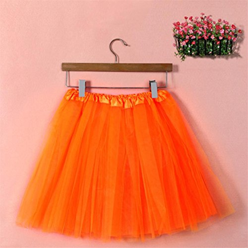 Solid Skirt Orange Mesh Hot Pleated Adult Dancing TIFENNY Dress mesh Sale Womens Half Tutu High Waist Gauze aww8qxXC