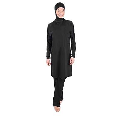 32bf2420d9d3e YONGSEN Full Coverage Muslim Swimwear Islamic Women Modest Hijab Plus Size  Burkini Bathing Swimsuit at Amazon Women's Clothing store:
