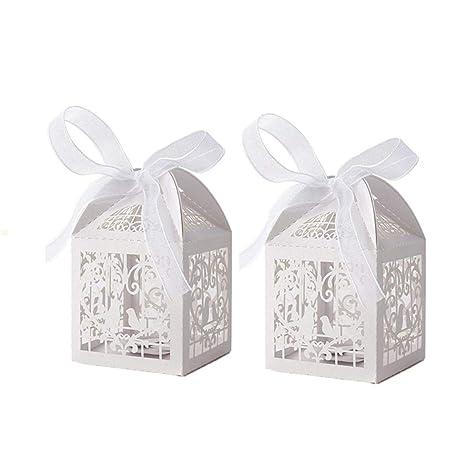 Amazon.com: SZ 50 unidades corte láser favores de la boda ...