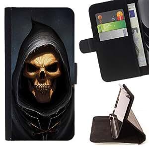 Momo Phone Case / Flip Funda de Cuero Case Cover - Cráneo Parca;;;;;;;; - Samsung Galaxy E5 E500