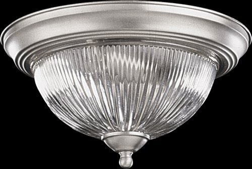 (Quorum 2 Light Bowl Flush Mount in Satin Nickel )
