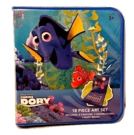 Toddlers Finding Dory Nemo Kids Back to School Pre-school Elementary Toy Figure Paint & Crayon Set (Homemade Infant Princess Costume)