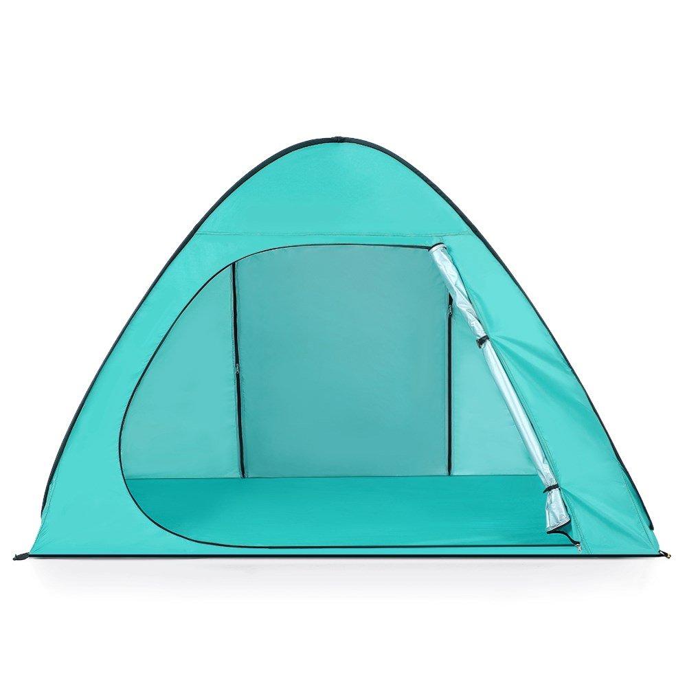 YOPEEN Automatisches Strand-Zelt UPF50 + UV-Schutz Pop-up-Camping-Zelt Sun Shelter Cabana für 2-3 Personen Beach Shade Sunshelter