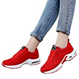 Farjing Breathable Shoe Flying Woven Sports Shoes Casual Running Shoes Student Mesh Shoe(US:6.5,Red)