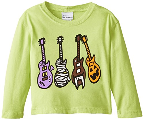 Flap Happy Baby Boys' Boy's Crew Neck Tee With Screen Print, Monster Guitars, 18 Months
