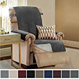 Gorilla Grip Original Slip Resistant Recliner Slipcover Protector, Seat Width Up to 26' Suede-Like, Patent Pending, 2' Straps/Hook, Furniture Cover for Kids, Dogs, Cats, Pets (Recliner: Dark Gray)