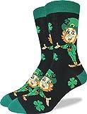 Good Luck Sock Men's St. Patricks Day Leprechaun Socks - Green, Shoe Size 7-12