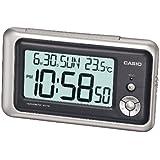 Casio DQ-748-8EF - Reloj despertador (digital, cuarzo, multifunción), color gris/negro