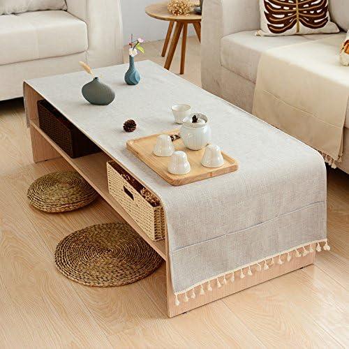Manteles Mantel Mesa De Centro Mantel Tela Algodón Y Lino Pequeño Y Fresco Mueble De Tv