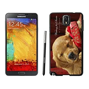Customization Christmas Sleeping Dog Samsung Galaxy Note 3,Samsung N9005 Black TPU Cover Case