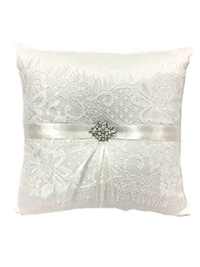 Amazon Com Toshine Wedding Ring Bearer Pillow French Eyelash Lace