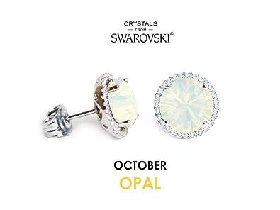 3680d6c5aa97c Swarovski Crystals Birthstone Stud Earrings