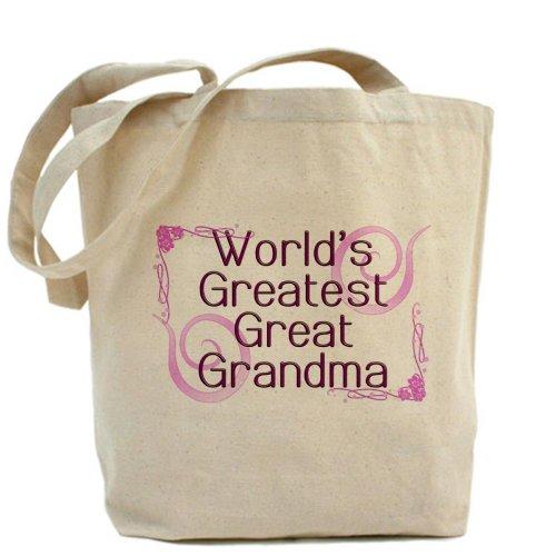 CafePress–más grande del mundo gran abuela–Gamuza de bolsa de lona bolsa, bolsa de la compra