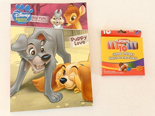 Disney Animal Friends Coloring & Activity Book + Jumbo Crayon Pack of Crayons