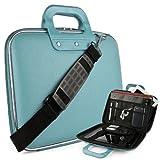 Cady Messenger Cube JET BLACK Ultra Durable Leatherette Bag Case fits Samsung ATIV Book 9: Spin, Plus, & Lite Series 13