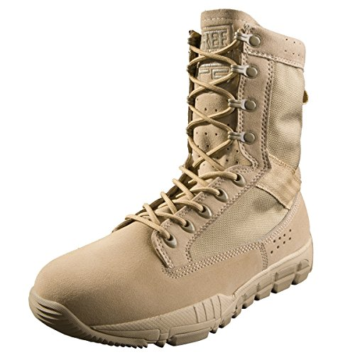 - FREE SOLDIER Tactical Boots 8 Inch Desert Shoes High Ankle Support Military Boots(Tan 8)