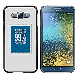 LECELL--Funda protectora / Cubierta / Piel For Samsung Galaxy E7 E700 -- 1 por ciento 99 azul rico justicia social --
