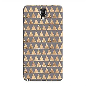Cover It Up - Brown Grey Triangle Tile Galaxy Note 3 Neo Hard Case
