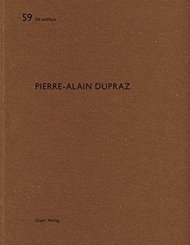 Pierre-Alain Dupraz De aedibus (French and German Edition) [Wirz, Heinz] (Tapa Blanda)