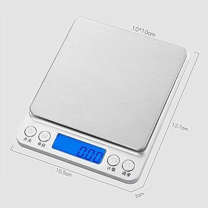 Báscula de cocina | Báscula electrónica de alimentos de acero inoxidable | Báscula de bolsillo Mini Escala de cocina | 500 g / 0.01 g: Amazon.es: Hogar