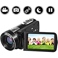 SEREE Video Camera Camcorder Full HD 1080p Digital Camera...