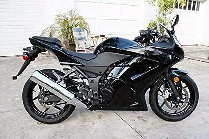 Carenado de inyección completo negro brillante para Kawasaki ...