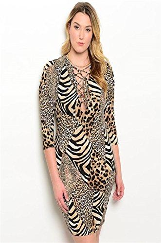 cheetah print mini dress - 4