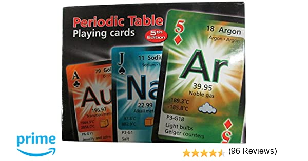 Periodic table playing cards english spanish and french edition periodic table playing cards english spanish and french edition les entreprises synheme inc 0689076890595 amazon books urtaz Gallery