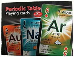 Periodic table playing cards english spanish and french edition flip to back flip to front urtaz Image collections