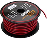 GS Power's 18 Ga Gauge 100 feet CCA Copper Clad Aluminum Red / Black 2 Conductor Bonded Zip Cord Power / Speaker Cable for Car Audio, Home Theater, LED strip Light
