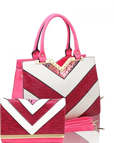 Orchid Clearance Purse College Bag A4 One Stripe in Bag Ladies Sale CW112 Set Fashion Folder School Body A4 LeahWard Cross Women's Tote Handbag Two 60WU6YP