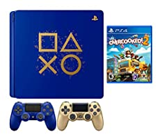 PlayStaion 4 Overcooked! 2 Days of Play Limited Edition Bundle: PlayStation 4 Days of Play Limited Edition 1TB Console, Overcooked! 2 Game and Extra Gold Dualshock 4 Wireless Controller
