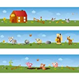 Wandkings border ''Big Farm'' Length: 177 inch, self-adhesive, for children's rooms